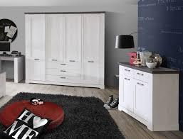 Schlafzimmer Gaston 65 Weiß Grau 7 Teilig Jugendzimmer Schneeeiche