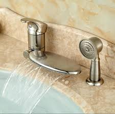 roman tub faucet pull out sprayer deck mounted hot up down intended bathtub faucets with regard