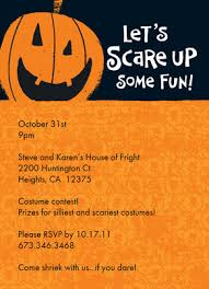 Halloween Invitations Cards Scare Up Fun