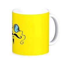 Smiley Face Coffee Mug Graphic Coffee Mug Mustache On Coffee Mug Dog Lover Coffee Mug