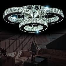 Led Deckenleuchte Kristall Kronleuchter Deckenlampe Atris 24