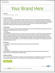 Job Posting Template Job Ads That Work How To Write A Job Posting Smartrecruiters