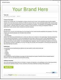 job ad templates under fontanacountryinn