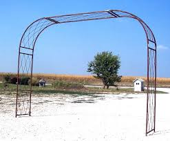 wrought iron extra large driveway arch