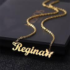 special offer designer name necklace