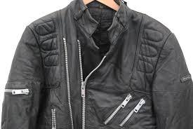 vintage hein gericke leather cafe racer biker jacket punk xs 34 26127