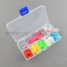diy colorful loom bands box with rubber bands and accessories diy r009 05