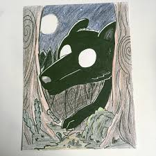 Another drawing i made, the Black hound from hilda, 2 more drawings on my  account. : HildaTheSeries