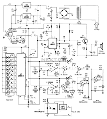 Explosive gas detector circuit diagram schematic