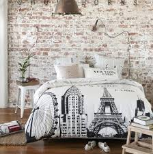 brick wall bedroom. Shabby Chic Bedroom With Brick Walls Wall L