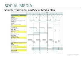 weekly schedule example calendar marketing plan template excel digital and social