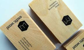 exotic wood business cards by ottawa graphic designer