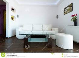 Leather Sofa Living Room Modern Living Room With White Leather Sofa Stock Photos Image