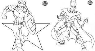 Small Picture Superhero Inspired Coloring Pages