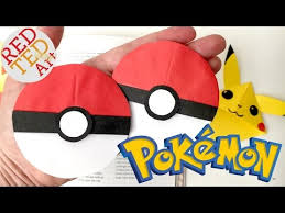 easy pokeball bookmark pokemon go origami paper crafts collab with natasha lee pokeball