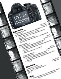Photography Resume Templates Fascinating Free Photographer Resume Sample Download Template Professional