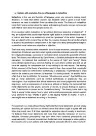 metaethics essay document in a level and ib religious studies page 1