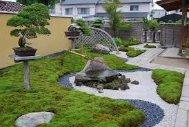 Small Picture Japanese garden with multi coloured rock and stonework