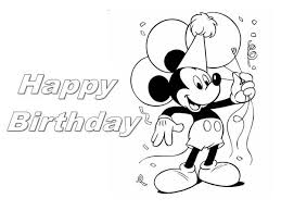 Small Picture Happy Birthday Mickey Mouse Coloring Page Color Luna