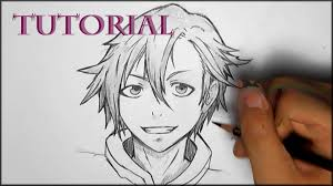 Hair Style Anime how to draw manga male hair style youtube 7721 by wearticles.com