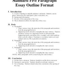 high school outline format example of an essay outline baxrayder inside 5 paragraph essay