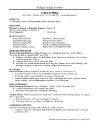 Biology Research Assistant Resume Legalsocialmobilitypartnership Com