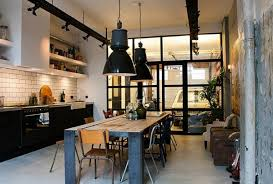 large room lighting. Combined Rustic And Industrial Large Pendant Lights In The Dining Room - Modern Lamps Lighting