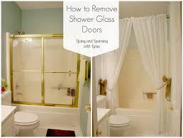 how to remove shower glass doors with regard to how to clean bathroom glass door