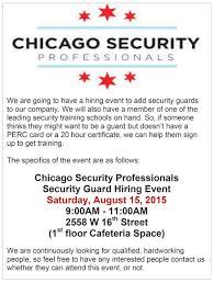 chicago security professionals hiring event