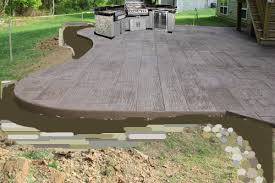 stamped concrete the lil house that could