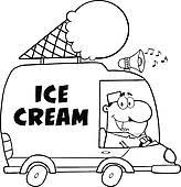ice cream clipart black and white. Plain Clipart Ice Cream Icons Black And White Happy Cream Man For Clipart