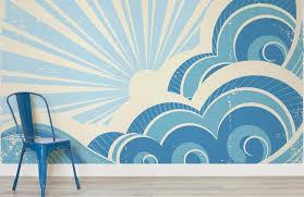 retro surf room exterior murals