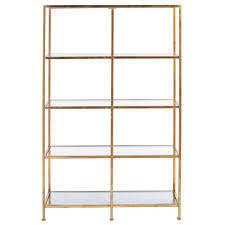 home decorators collection bella aged 40 in wide gold gl bookcase