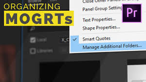 How To Organize Motion Graphics Templates In Premiere Pro
