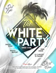 Free Party Flyer Templates White Party Free Flyer Psd Template