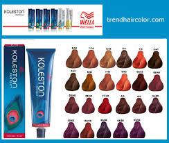 Wellaton Koleston Hair Color Chart Ingredients