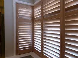 square bay window with natural wood shutters fitted wooden shutters n39 shutters