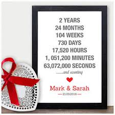 image is loading personalised 2nd wedding anniversary gifts for him for