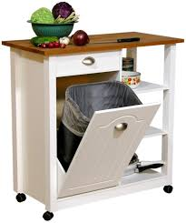 Mobile Kitchen Island Buy Mobile Kitchen Island Trash Bin W 3 Shelf Pantry