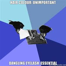 Creative Writing Ravens - hair colour: unimportant dangling ... via Relatably.com