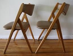 modern folding chairs. mid century modern coronet folding chairs a