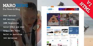 Maro News And Blog Html Template