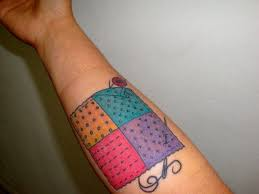 14+ Unique Quilting Tattoos Ideas & Cool Quilting Tattoo On Forearm Adamdwight.com