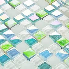 blue crystal glass tile le glass wall tile backsplshes decor bathroom wall tiles mirror tile swimming