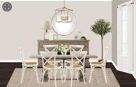 Table Diner Design Rustic Transitional Dining Room Design By Havenly Interior