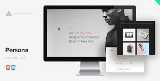 Wordpress Resume Theme Impressive Persona Minimal ResumeCV Template By AetherThemes ThemeForest