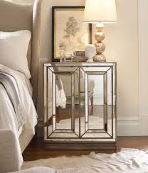 bedroom furniture inspiration. Beautiful Mirrored Nightstand With Three Drawers Design For Elegant Bedroom Furniture Inspiration D