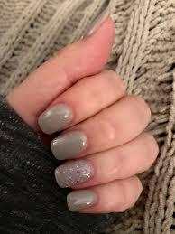 sns powder dip winter holiday grey and silver