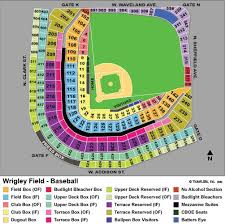 Wrigley Field Seating Map Google Search Cubs Tickets