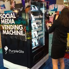 Marketing Vending Machines Gorgeous Social Media Vending Machine PurpleGlo Experiential Marketing